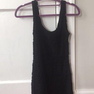 Soprano Dresses - Black Lacey formal bodycon tank dress size small